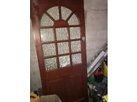 Exterior door with lock
