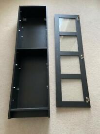 5 Shelf Black Storage Cabinet