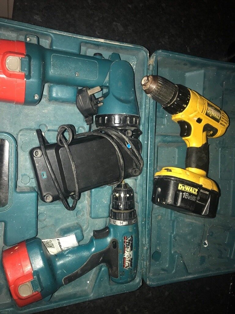 £40 pair Makita cordless drill+light and dewalt cordless drill | in  Houghton Le Spring, Tyne and Wear | Gumtree