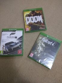 Doom, Froza Motorsport 7 and fallout 4 brand new boxed