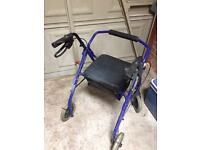 Walking frame with wheels seat and storage OFFERS WELCOME