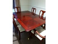 Large Dining Table 6 Chairs Extendable Wood Good Condition £130 ONO