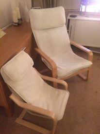 IKEA matching Adult & Children's Poäng Arm Chairs