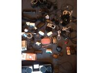 Joblot of electrical items, leads , phones , chargers etc