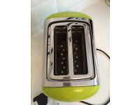 Russel Hobbs green kettle and toaster