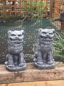 Lovely large Pair of Chinese foo dogs