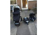 Mothercare my4 pram with easy fix base