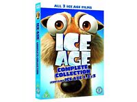 Brand New Complete Collection DVD Of Ice Age 1-3