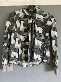 Bench jacket with hood