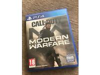 PS4 - COD - MODERN WARFARE USED BUT NEW COND.