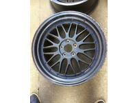 """Rare 19"""" staggered LM reps (5x112)"""