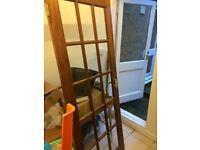 Wood and glass internal door - free.