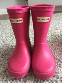 Girls Hunters wellies size 6