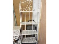 Metal garden furniture large shelf unit