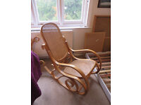 Cane and light wood rocking chairs - matching 2 available (£10 each)