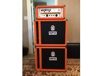 Orange AD200B bass amp and cabs
