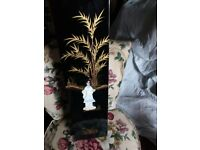 three tall mother of pearl vases forsale