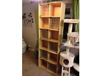 Shelving unit with glass