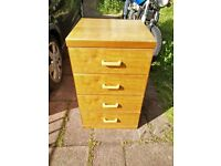 SLIM LINE CHEST OF DRAWERS WOODEN 4 DRAWER
