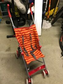 Red Kite Summer/Holiday Folding Buggy in good used condition