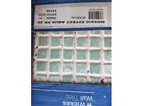 3 unopened packs Wickes Aqua Mosaic effect wall tiles 200 x200cm per tile
