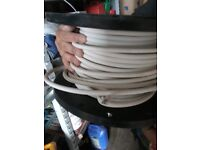 White electrical cable