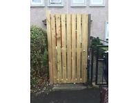 Wooden handmade gate