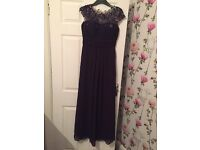Bridesmaid/prom dresses size 8. 3 pink dresses with matching shawl and 1 purple lace at the top