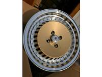 """15"""" STUTTGART ST4 ALLOY WHEELS 4X100 VW LUPO MK1 MK2 AROSA CORSA MINI"""