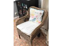Wicker Armchair - New Condition