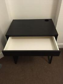 Ikea desk - black