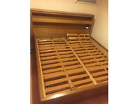 Super king bed solid wood for sale