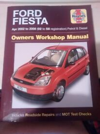 Haynes Ford FIESTA Apr 2002 to 2008 (02 to 58 registration) Petrol and Diesel Service Manual