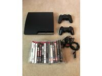 PlayStation 3 Slim 120GB PS3 - 14 Games & 2 Controllers