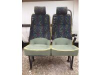 2 belted double seats from a Mercedes sprinter minibus.