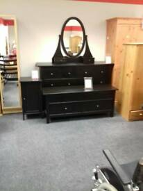 Beautiful black ash bedroom set can be sold separately.