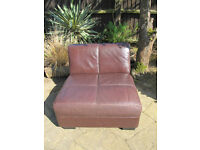 BROWN LEATHER CHAIR, GOOD QUALITY SOFT LEATHER GOOD CONDITION