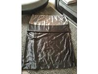 Black and grey satin curtains 90x90