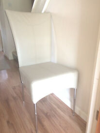 Cream Faux Leather Chairs