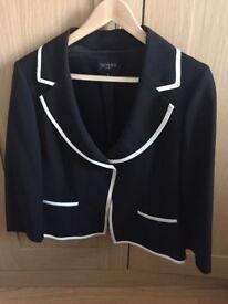 Hobbs Women's Navy Blazer Jacket Size 14 (Fantastic Condition)