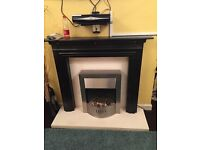 Fireplace surround and electric fire with hath