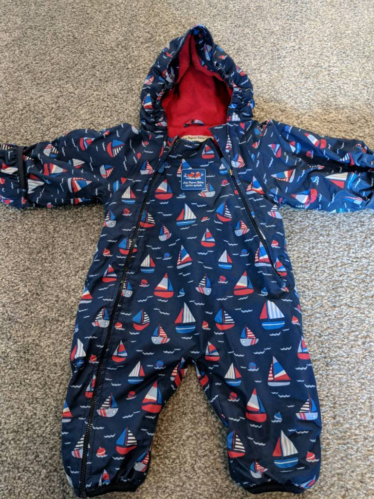 f6a074386 Jojo Maman Bebe waterproof fleece lined all in one 3-6 months.