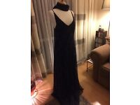 Navy blue beaded evening dress and shawl by kaleidoscope size 16