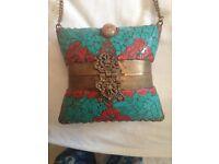Beautiful ethnic design metal bag - perfect gift idea