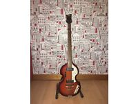 Hofner Violin Bass with New Strings and Case