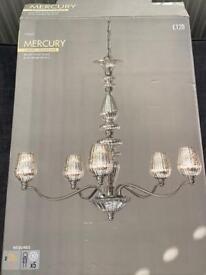 Next 5 light chandelier BRAND NEW