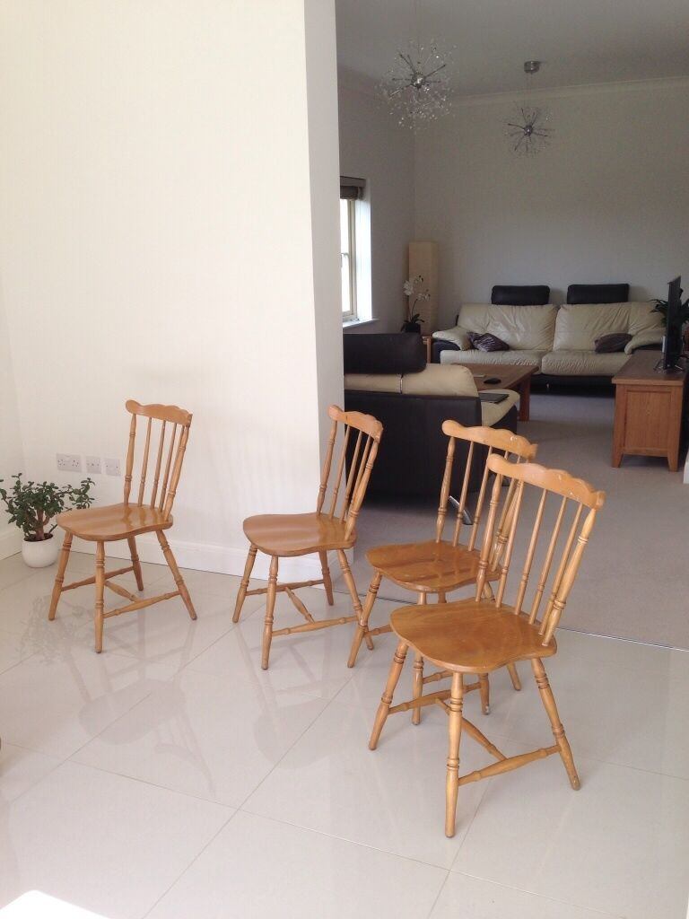 4 Wooden Dining Chairs In Cirencester Gloucestershire Gumtree