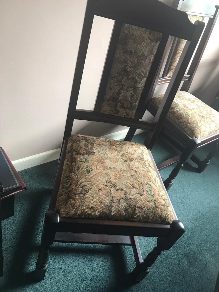 Vintage Dining Room Table (Extendable) with Six Chairs