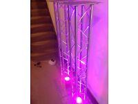 2x Podium / Truss / Plinth Lighting Stands - 2x 1.50m - DJ Moving Head Stands