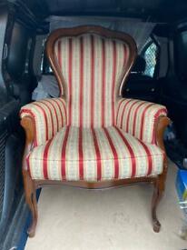 Regency wingback chair